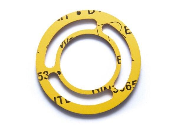 Einstutzen Gaszähler Dichtung DN40   NW 40/3,0 mm aus REFALIT