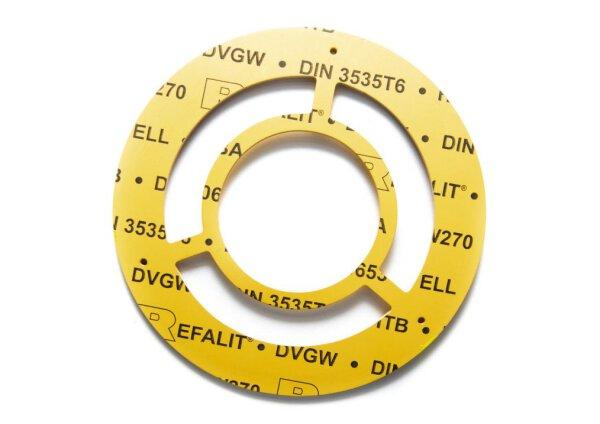 Einstutzen Gaszähler Dichtung DN65 | NW 65/3,0 mm aus REFALIT