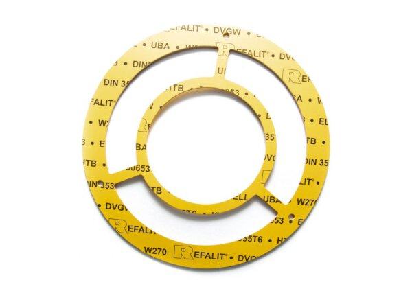 Einstutzen Gaszähler Dichtung DN100 | NW 100/3,0 mm aus REFALIT